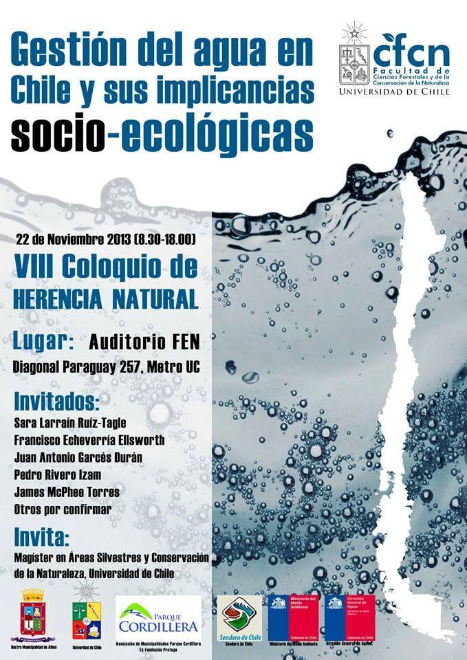 Coloquio HERENCIA NATURAL La gestión del agua  en Chile