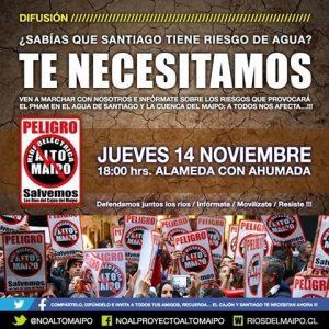 NO ALTO MAIPO protesta 14 de nov.