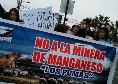 No a la minera Manganeso Los Pumas
