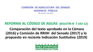 Sara Larraín expone en Comisión de Agricultura del Senado por Reforma al Código de Aguas