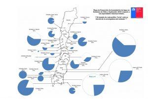 Cada vez menos reservas de agua para Santiago: Embalse El Yeso está a un 37% de su capacidad