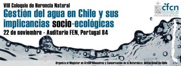 Especialistas se reunirán en coloquio abierto para abordar la gestión del agua y sus implicancias en la sociedad: 22 de noviembre, U. de Chile.