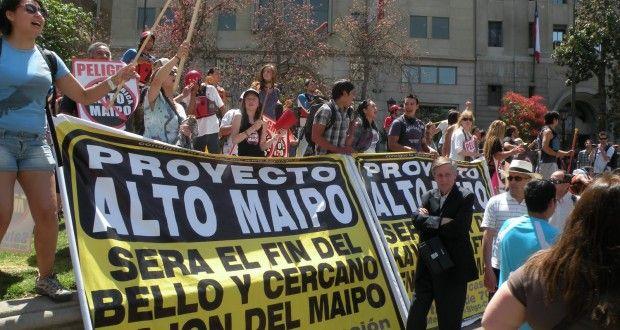 Personajes de la escena nacional llaman a oponerse a la hidroeléctrica Alto Maipo