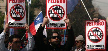 """""""NO A ALTO MAIPO"""": Alcalde y políticos han estado """"bastante ausentes"""""""