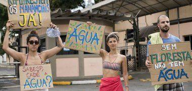 Brasileños reclaman por falta de agua en Sao Paulo