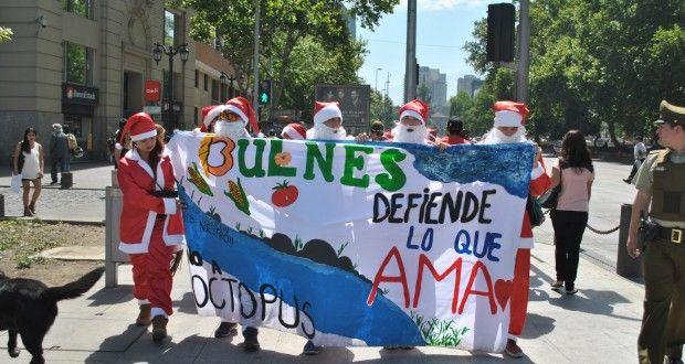 Viejos pascueros protestan contra reactivación de polémicos proyectos medioambientales en Biobío