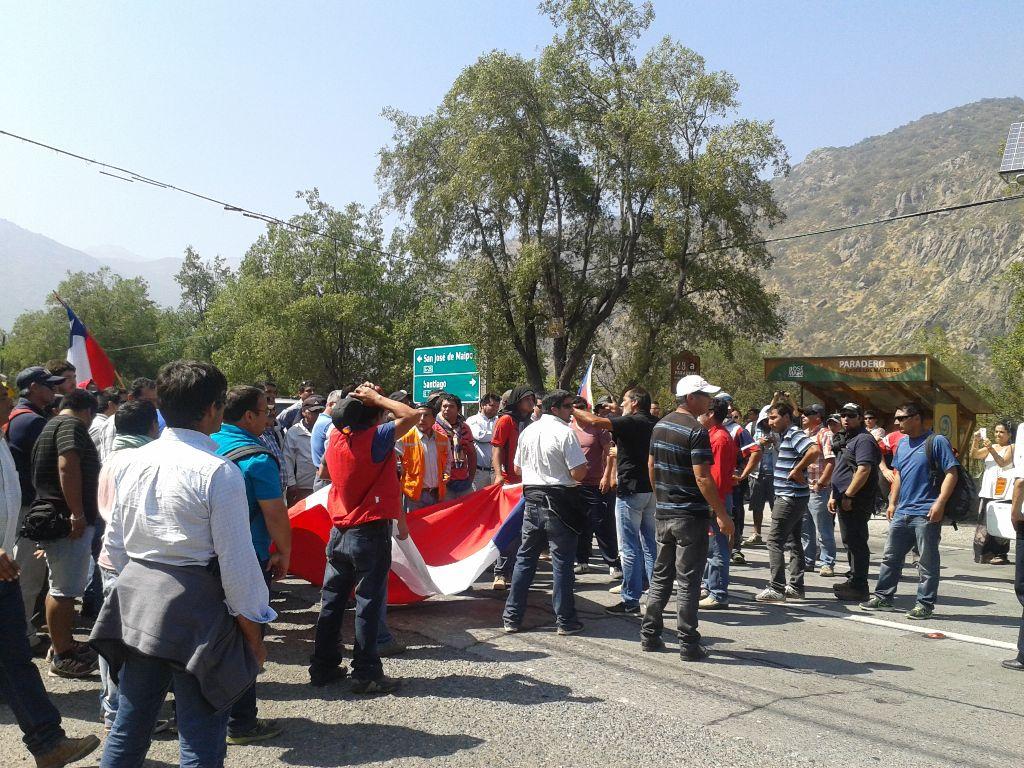 Trabajadores del proyecto Alto Maipo cumplieron 18 días en paro