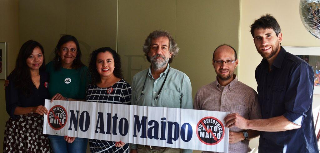 BID y OPIC se reúnen con dirigentes de NO Alto Maipo