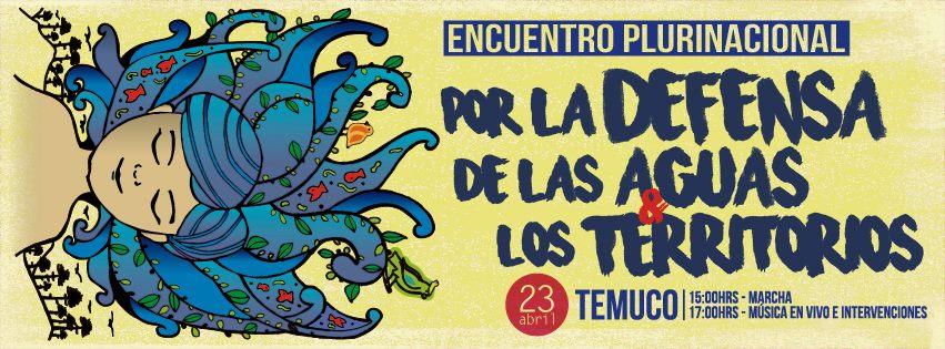 23 de abril: Encuentro Plurinacional por el Agua en Temuco