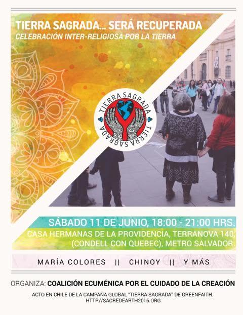 Celebración Inter-Religiosa «Tierra Sagrada» el 11 de junio